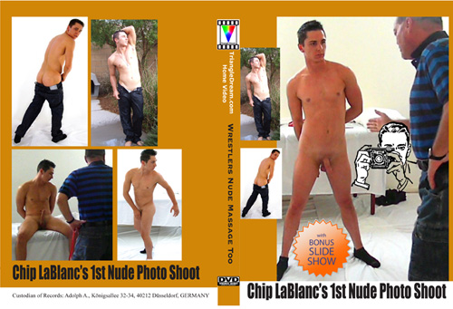 gay porn movie Chip LaBlanc's 1st Nude Photo Shoot