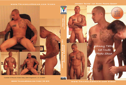 gay porn movie Johnny Tatts' 1st Nude Photo Shoot