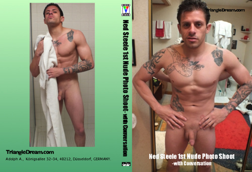 gay porn movie Ned Steele 1st Nude Photo Shoot- with Conversation